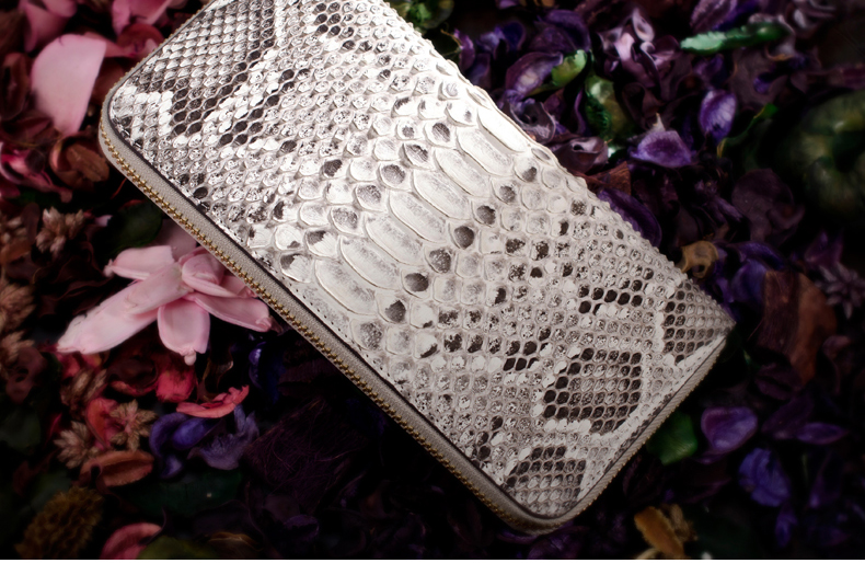 100%  Genuine/Real python skin leather long size  wallets and purse  Men/Women + Free shipping