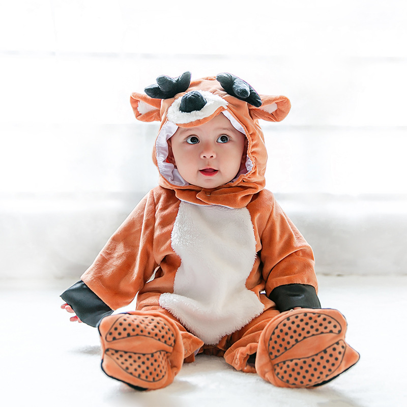 Animal Baby Clothing Festival Cosplay Children Reindeer Animal Costume Holiday Halloween Purim Fashion Baby Kids Rompers brand infants costume series animal clothing set lion monster owl cow clasp elephant kangroo baby cosplay cute free shipping