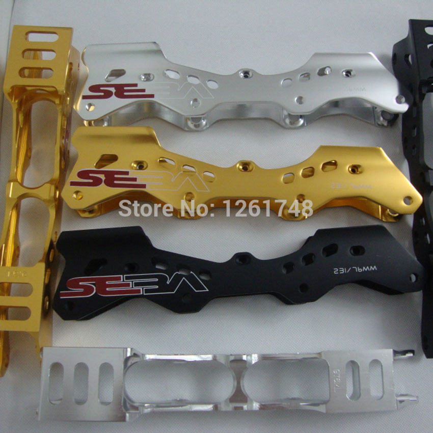 ФОТО SEBA Inline Skates Frames 231mm And 243mm Slalom Roller Frame 4 Colors With Axles Skating Shoes Basic