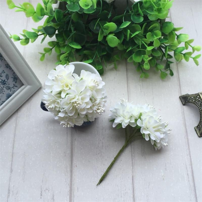 6pcs Silk Stamen Artificial Flower Bouquet For Wedding And Party Decoration 1