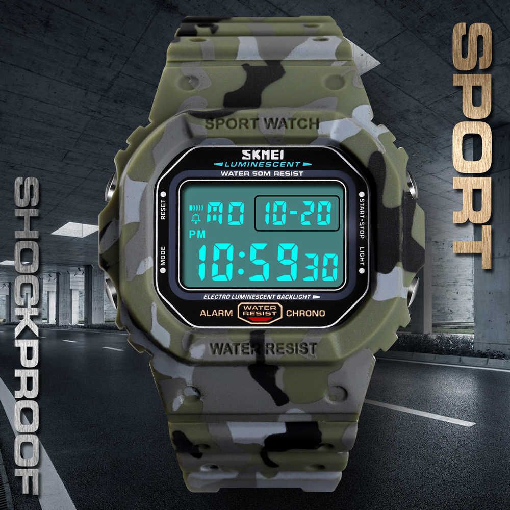 d6b8b8cbb40f ... SKMEI Outdoor Sport Watch Men 5Bar Waterproof Watches Alarm Clock Week  Display Military Fashion Digital Watch ...