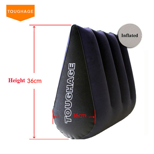 Toughage Inflatable Sex Pillow Positions Adult Sex Sofa Bed Cushion Triangle Wedge Pad Sofa Toys Sex Hold Pillow PF3101