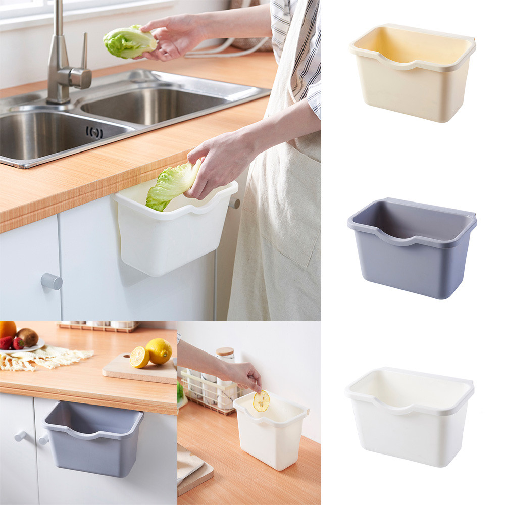 Cocina Holders Practical Kitchen Cabinet Door Hanging Trash Garbage Bin Can Rubbish Container For Food Vegetables Storage #45