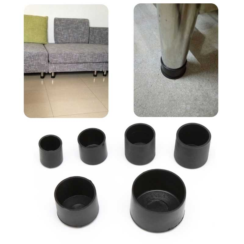 4x gumowe krzesło Ferrule odporne na zadrapania nóżki do mebli noga ochraniacz na podłogę czapki # Sep.10
