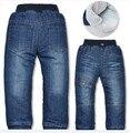 Бренд дети в толстый зима тёплый кашемир дети одежда мальчики девочки брюки младенцы джинсы