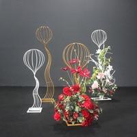 Fone Artificial Wedding Flower Road Sponge ball Road Lead Wedding Iron Art Wedding Rose DIY Iron Art Decoration Accessories