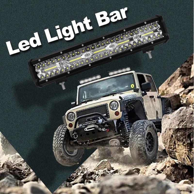 FLYCAR 15inch 300W LED Work Light Bar Auto Spotlight Driving Fog LED Light Bar for Car