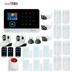 SmartYIBA system alarmowy wi fi gsm nadzór bezpieczeństwa syrena stroboskopowa okno drzwi otwarty ruch wykrywanie dymu IP CamiOS aplikacja na androida|Zestawy systemów alarmowych|Bezpieczeństwo i ochrona -