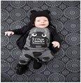 Одежда для новорожденных Наборы 2 ШТ. костюмы Круглый шею Детские Рубашка + Брюки Младенца Хлопка мальчики девочки Костюмы
