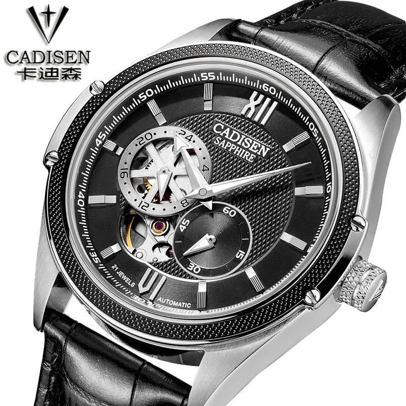 cadisen leisure business men s Watch luxury design mechanical skeleton watch men