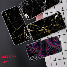 Silicone Case Line Marble Luxury Printing for iPhone XS XR Max X 8 7 6 6S Plus 5 5S SE Phone Matte Cover