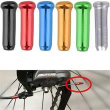 20 pièces/ensemble vélo frein fil en alliage d'aluminium bouchon arrière 6 couleurs vélo frein câble fin protection couvercle ligne de frein câble embout