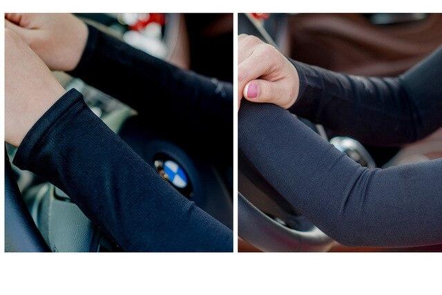 Tecido de gelo respirável proteção uv correndo mangas braço fitness basquete manga esporte ciclismo ao ar livre aquecedores braço ciclismo manguito 6