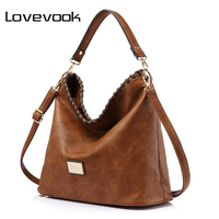LOVEVOOK Brand Large Capacity Women Shoulder Bag Female Casual Tote Hobos Handbag Famous Brands High Quality