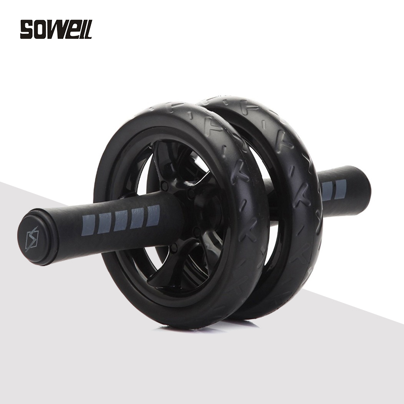 Muscle Double-wheeled Fit Wheels No Noise Abdominal Wheel Ab Roller With Mat For Exercise Fitness Equipment Abdominal roller 1 image