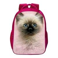2017 الساخن بيع أكسفورد 16 بوصة الطباعة حيوان لطيف القط الأطفال الحقائب المدرسية للأطفال حقيبة الطفل الفتيات السيدات الكتب حقيبة