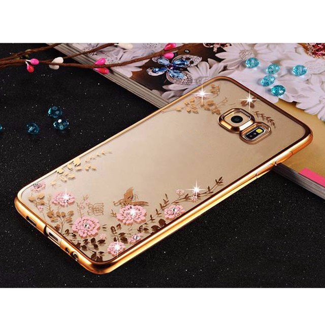 the latest 097f3 3953b US $1.04 |Sunjolly Flower Soft TPU Case Rose Gold Bling Rhinestone Cover  for Samsung Galaxy S9 S8 S7 S6 Edge Plus S5 S4 S3 Note 9 8 5 4 3-in Fitted  ...