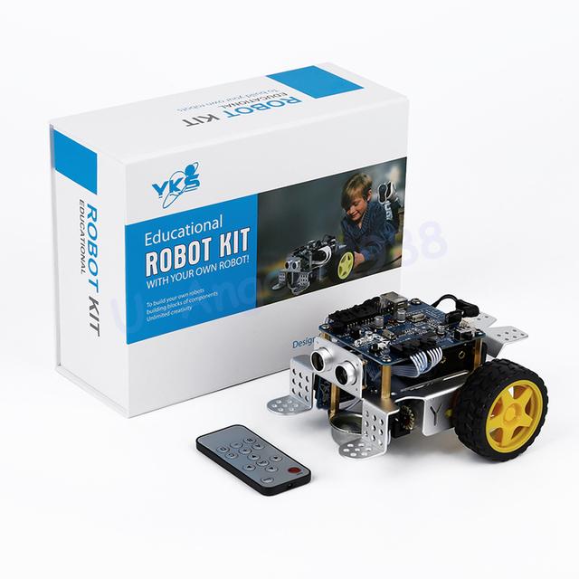 1 pcs mBot V1.1 Programável Crianças Brinquedos Educativos Presente de aniversário educação TRONCO com Diversão DIY Kit Robô Carro Inteligente