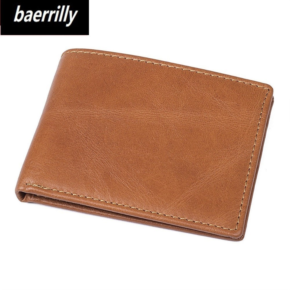 New Cowhide Genuine Leather Men Rfid Wallet Small Men Walet Portomonee Male Short Coin Purse Brand Perse Carteira Card Holder