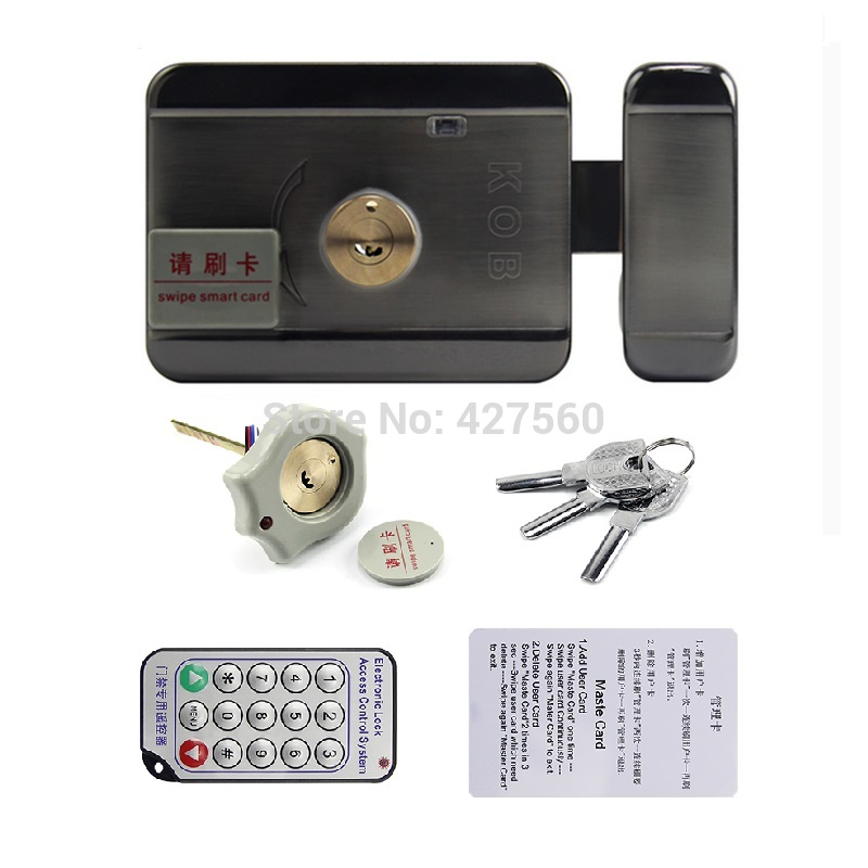 54ae53bef card integrated lock Remote electric lock Double-sided card and unlock  double-head lock