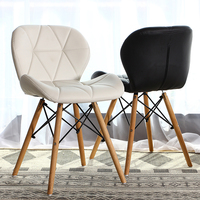 Free shipping U best Wholesale modern design restaurant hotel home black wood leg fabric louis side dining chair
