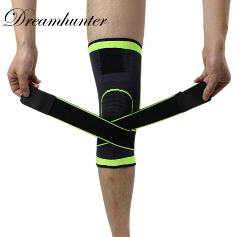 3D Weaving Pressurized Knee Pads Elastic Bandage Nylon Knee Brace Support Basketball Volleyball Cycling Knee Protection