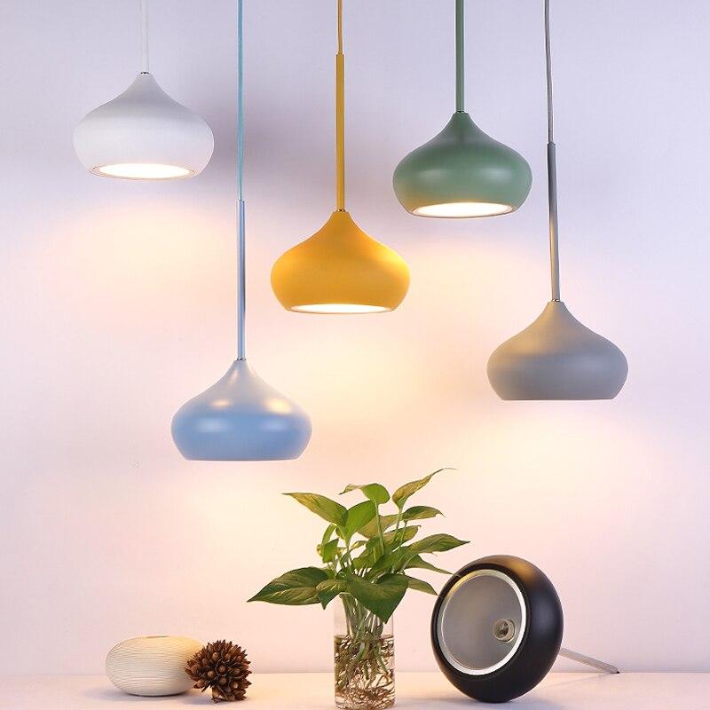 1 PC Pendentif Lumières LED Multiples Couleurs Salle À Manger Salon Hanglamp Pendentif Lampes Intérieur Decration Suspension Luminaire