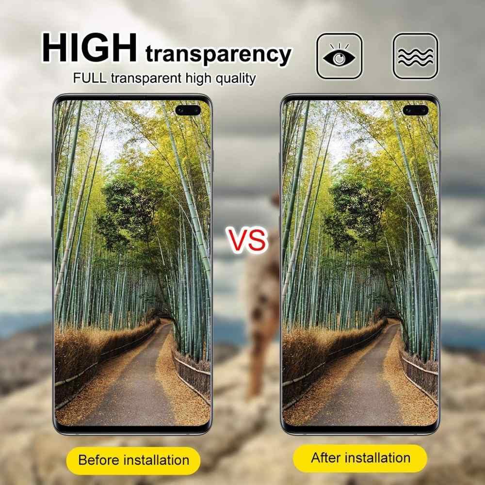 Protecteur d'objectif de caméra arrière pour Samsung Galaxy S8 S9 S10 Plus Lite Film de protection d'objectif en verre Flexible Transparent pour Note 8 9