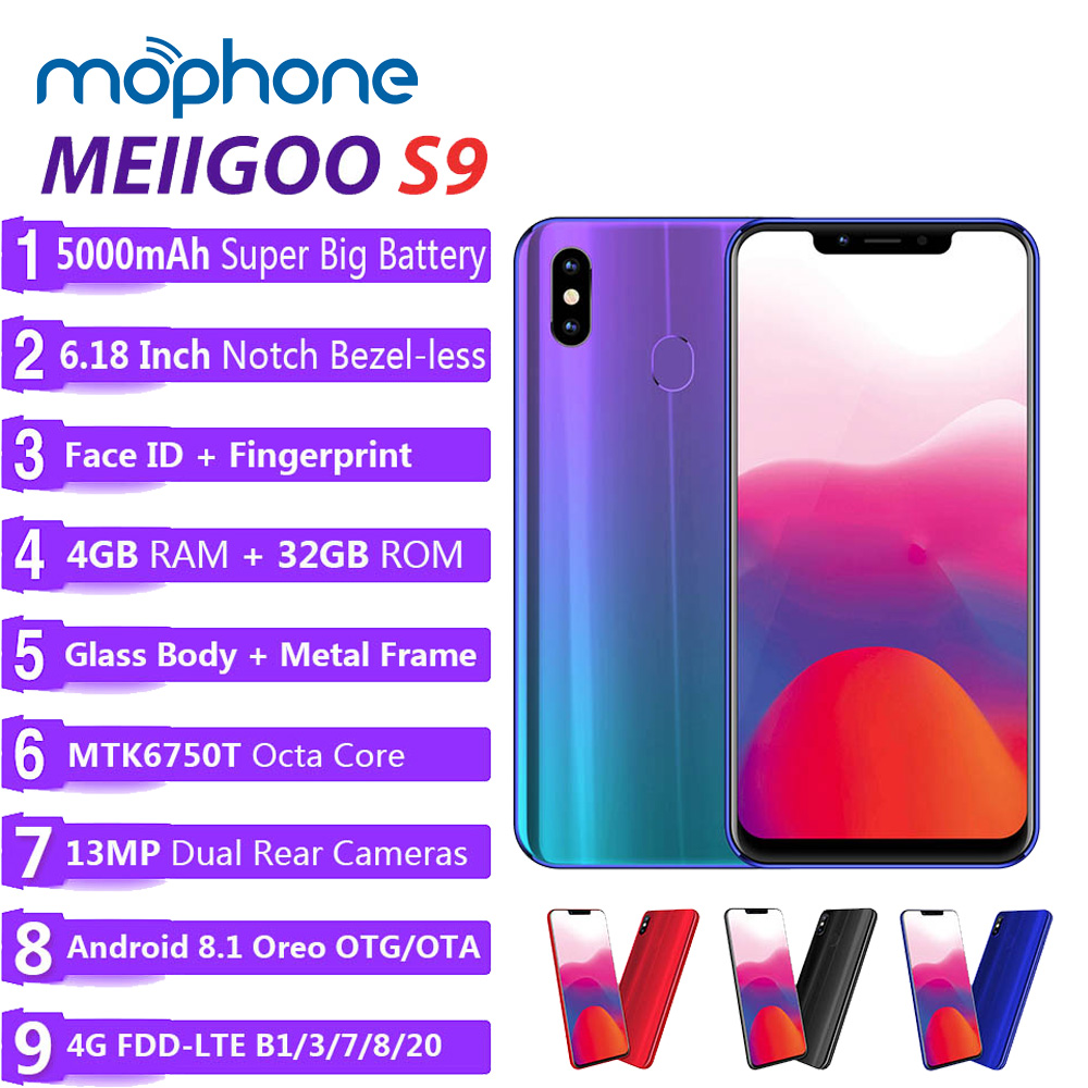 MEIIGOO S9 5000mAh 6 18 Inch Octa Core Full Screen Mobile Phone Face ID 4GB 32GB