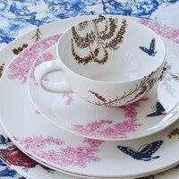 5 Piece Nordic Morning Flirt Fine Bone China Dinnerware Set For House Warming Gift