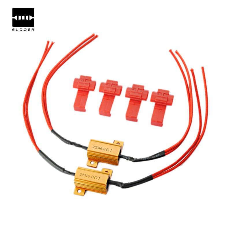 2Pcs Flash Rate Load Resistors LED Turn Signals Indicator Fog Runn Controllers 25W 1.1 x 0.6x 0.6 Inch2Pcs Flash Rate Load Resistors LED Turn Signals Indicator Fog Runn Controllers 25W 1.1 x 0.6x 0.6 Inch