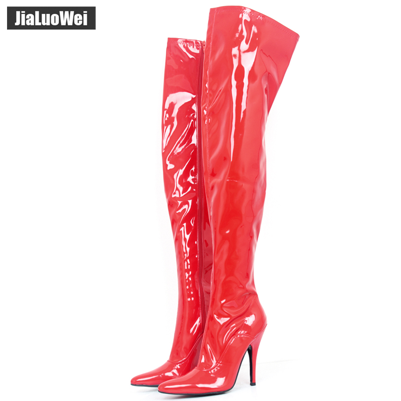 jialuowei TOP SALE ladies sexy pointed toe thigh high boots, Women High Heeled Casade Platform Boots Thigh High winter boots