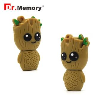 Funny Tree Alien USB Flash Drives 32GB Pendrive 64GB Personalized Creative 16GB Memory Stick Pen Drive Flashdisk Cute Gift