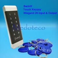 Narrow Door Access Control Slim 125Khz Rfid card access controller touch keypad access control system wiegand 26 input & Output