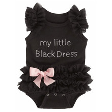 Baby Bodysuits My Little Girl Black Bodysuit Jumpsuits 1 2 Year Clothes Outfits Newborn Toddler Sleepers Pajamas