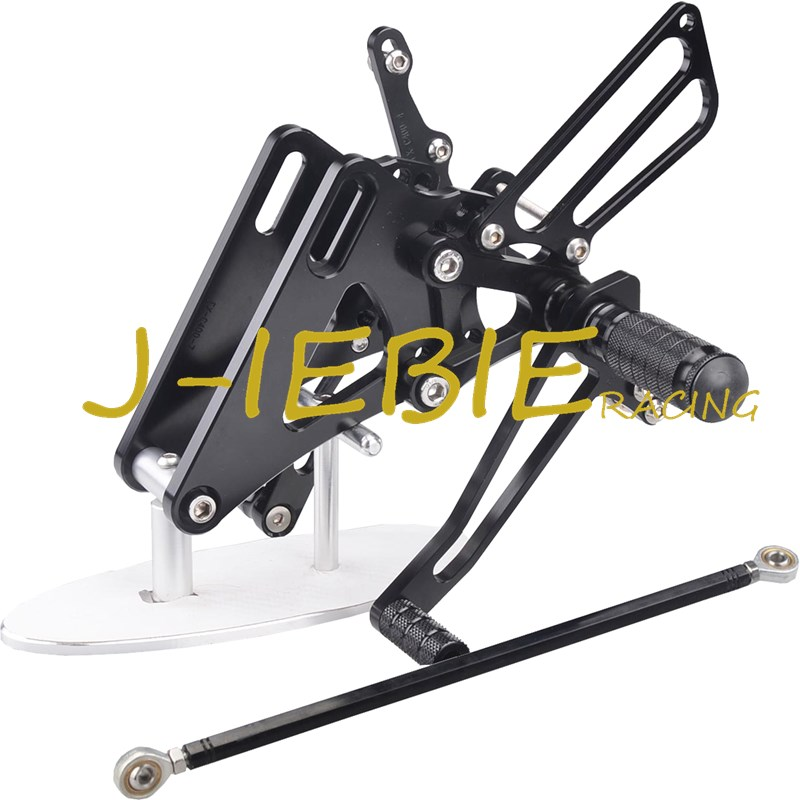 CNC Racing Rearset Adjustable Rear Sets Foot pegs Fit For Honda CB400 VTEC1 VTEC2 VTEC3 VTEC4 1999-2008 BLACK black cnc racing motorbike footpegs rearset rear set foot rests for honda cb1300 03 13 08 09 10 11 12 d25