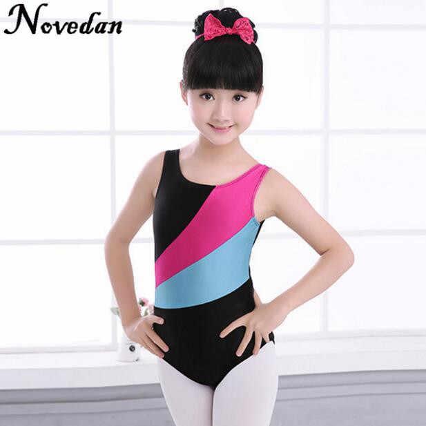 b89658402987 New Girls Skate Gymnastics Leotard/Unitards Kids Spandex Lycra Tank  Sleeveless Dance Ballet Leotard Children