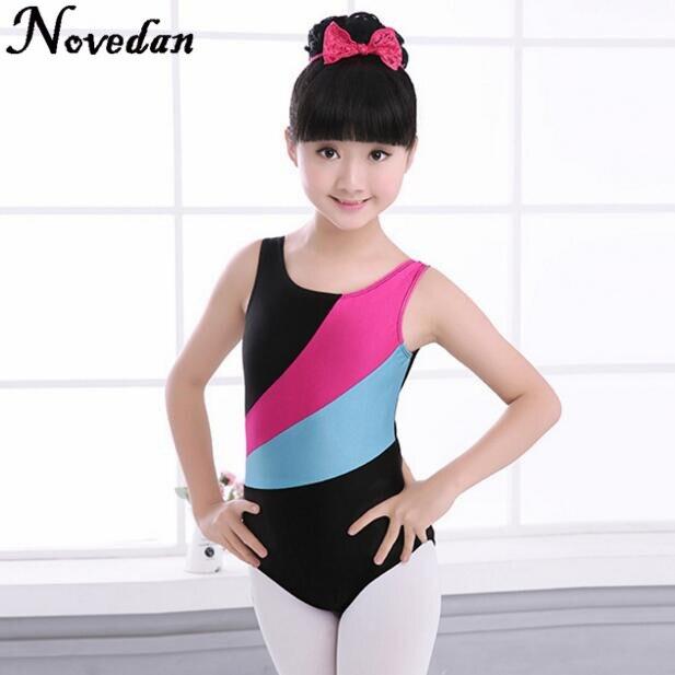Kid Girl Gymnastic Leotard GYM Ballet Dancewear Skating Tutu Unitard Costume