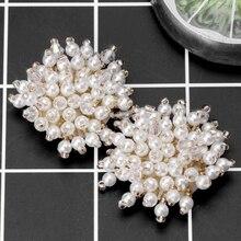 2pcs Shoe Decoration Pearl Clothes DIY High Heels Wedding Charms Rivet Fashion