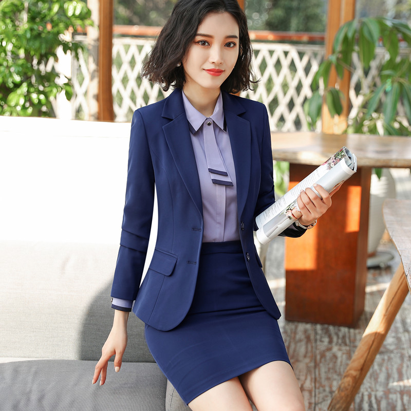 New Fashion Two Piece Set Women Pant Suits For Office Ladies Long Sleeve Slim Blazer And Pants