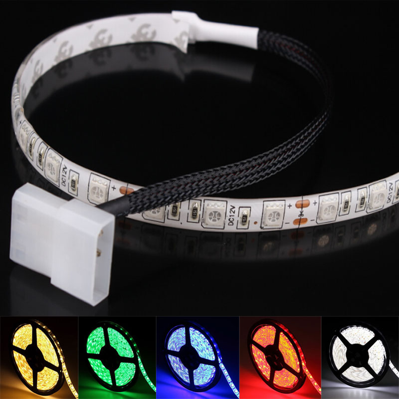 1m 60leds 5050 Led Light Strip SMD PC Computer Case Waterproof LED Flexible Strip Tape Light DC12V Red Blue Green Warm White