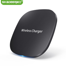 JK61 Qi Standard Fast Charging Wireless Charger Pad For iPhone X 8 Plus Samsung Galaxy S8 Plus S6 S7 Note 5 Note 8 Mobile Phone