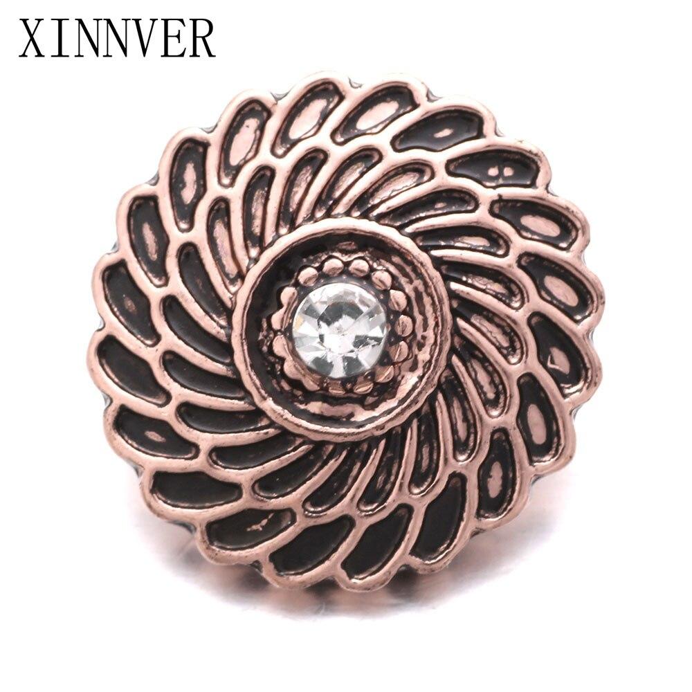 10pcs/lot 18MM Metal Snap Buttons Jewelry DIY Button Fit Snap Bracelets Bangles