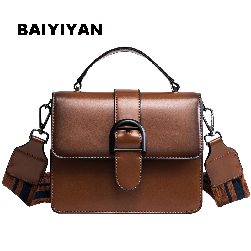 2018 New PU Leather fashion Handbag ladies shoulder bag Women's shopping Purse Wide shoulder strap crossbody bag Tote Bag