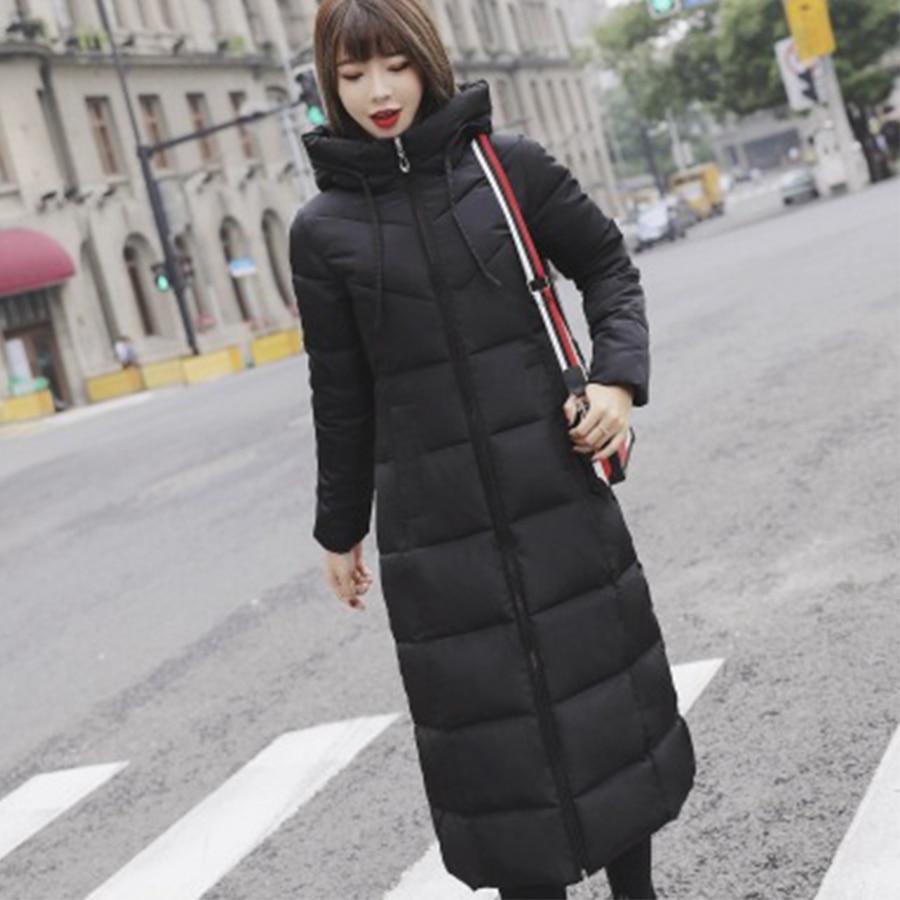 Thicken Hooded Warm Zipper Soild   Down     Coat   Women Luxurious Elegant Slim Cotton Outerwear New Casual   Down   Jacket Winter New