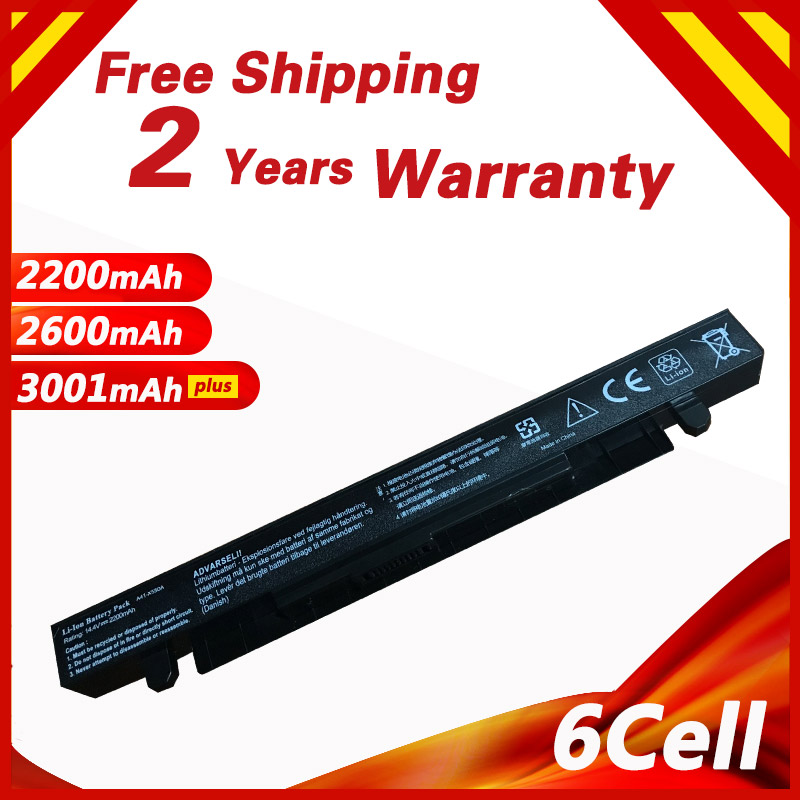 4 cells 14.8V Laptop Battery For ASUS A41-X550 A41-X550A A45