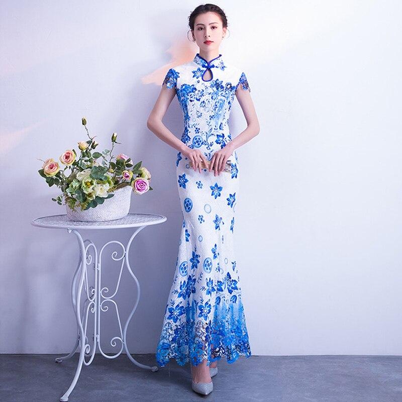 Courte dentelle broderie robe chinoise traditionnelle soirée Qipao robes de soirée mariée Cheongsam mode courte orientale robes de mariée