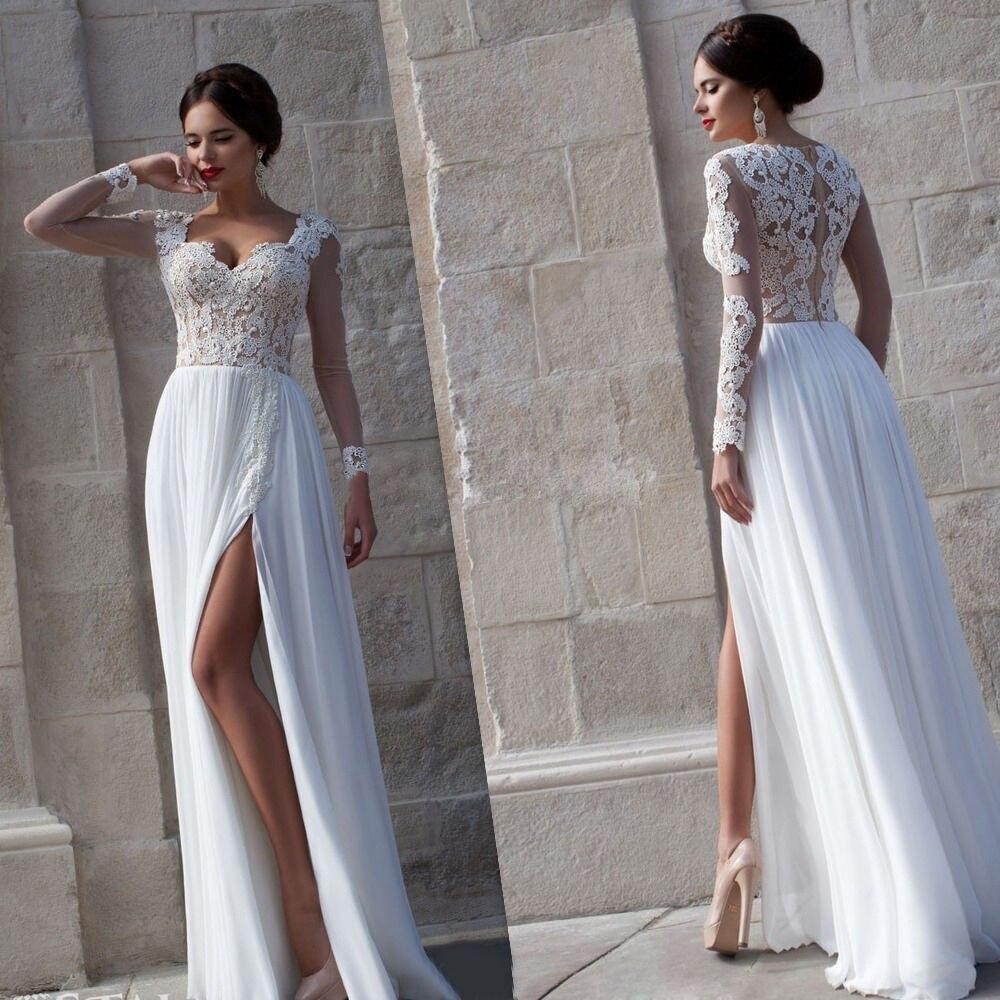 ivory lace bohemian wedding dress boho lace flowy wedding dress zoom