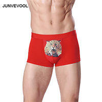 High Quality Underwear Men Red Sexy Boxers Comfortable Man Shorts New Arrival Bodycon Underpants Panties Breathable Underwears
