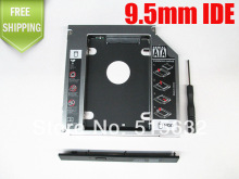 NEW 2nd HDD SSD Hard Disk Drive Caddy Bay for SATA to PATA/IDE Universal 9.5mm
